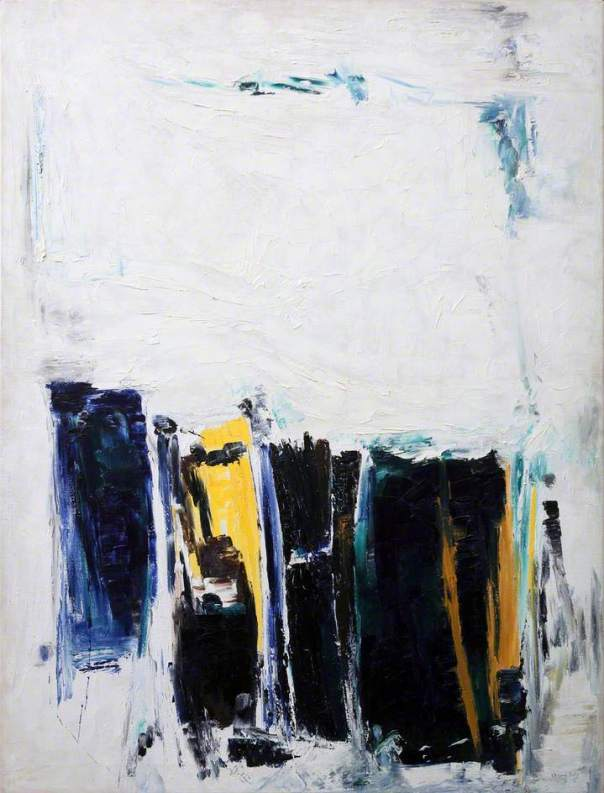 Painting in Summer, 1965. Oil on canvas, 122 x 92 cm. Falmouth Art Gallery