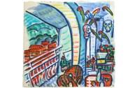 Michael Cullen, Porto Ercole, Balcony, Tuscany, 2004, watercolour on paper, 35 x 36.5 cm