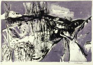 Elizabeth Blackadder: Tuscan Landscape. Print.