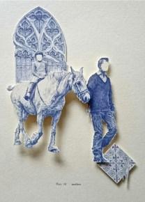 Antlers, miniature biro relief