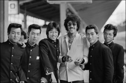 Phil Lynott, waiting for the bullet train in Tokyo, 1979
