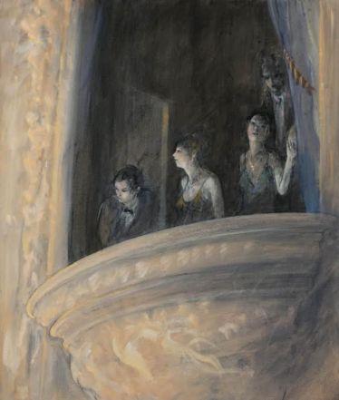 Opera Lovers, 2015. Oil on Canvas, 66 x 56 cm