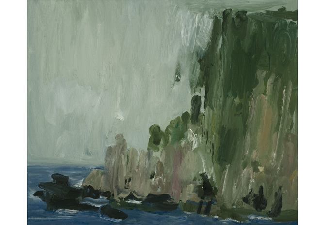 Pat Harris, Headland at Kilgalligan I, 2008, oil on linen, 75 x 90 cm