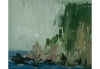Pat Harris, Headland at Kilgalligan I, 2008, oil on linen, 75 x 90 cm