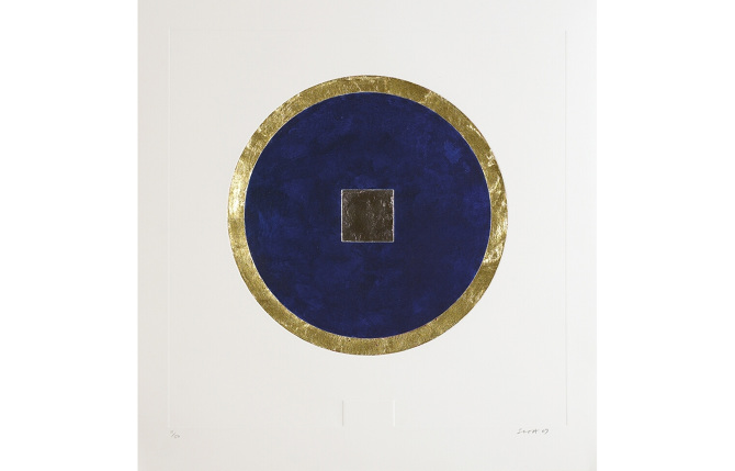 Patrick Scott, Untitled from 'Meditations', 2007, carborundum embossed with gold and palladium leaf, edition of 50, 60 x 60 cm