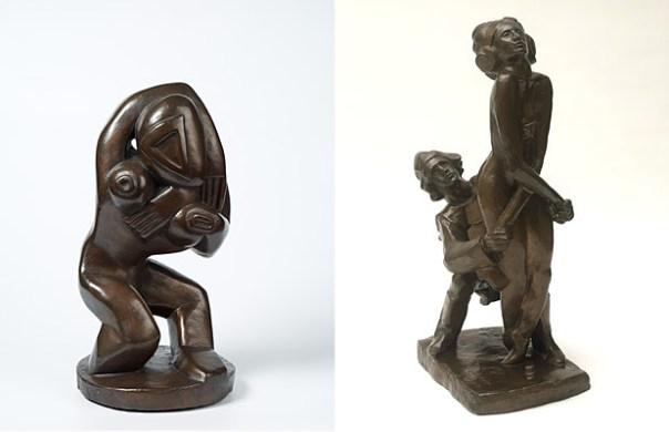 Henri Gaudier-Brzeska, Red Stone Dancer, 1913-14 and The Firebird, 1912