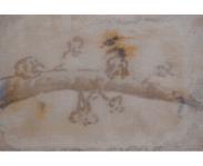 Blossom No.1, 2014, mixed media on canvas, 12 x 18 cm