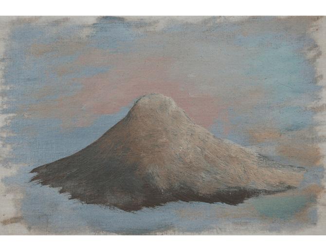 Mountain, 2014, mixed media on canvas, 12 x 18 cm