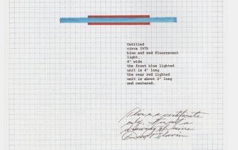 Jason File, Withdrawn Certificate (2015), Flavin Authenticity Certificate (AC) facsimile, drawn copy, Jason File (AC)