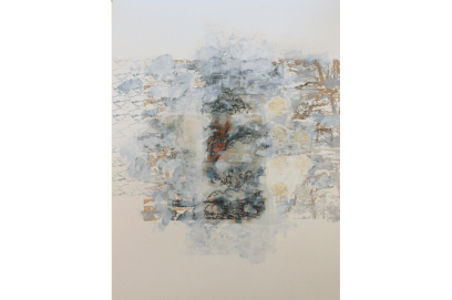 Displacement Series No. 23, 2015, mixed media on paper, 76 x 56.5 cm