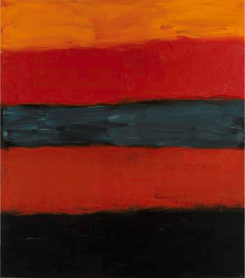 Landline Red Red, 2014. Oil on aluminium, 215.9 x 190.5 cm / 85 x 75