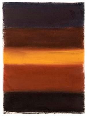 3.3.15, 2015. Pastel on paper, 76.2 x 55.9 cm / 30 x 22 in