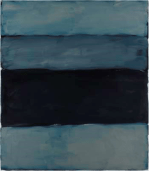 Landline Black Line, 2014. Oil on aluminium, 215.9 x 190.5 cm, 85 x 75 in