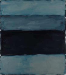 Landline Black Line, 2014. Oil on aluminium, 215.9 x 190.5 cm, 85 x 75 in