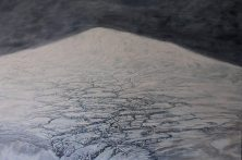 "Svalbard, Norway. ""Nature in the raw."" Oil on canvas"