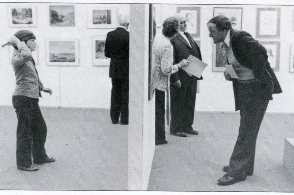 """This image of Dewi Glyn Jones (left) and his late father inspired an exhibition of photographs from the National Eisteddfod"""