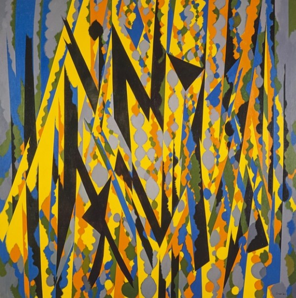 Broken Yellow, 1967. Oil on canvas, 182.9 x 182.9 cm, National Galleries of Scotland