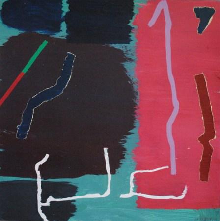 Knap, acrylic on paper, 13x13 cm, 2014