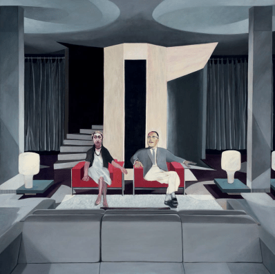 SEATED MAN AND WOMAN, 1963 - 66oil on canvas, 213 × 213 cm