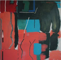 Ping Two, 2012, oil and wax on canvas, 114x114 cm