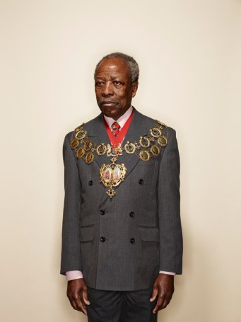 Lewisham Chair of Council Cllr Obajimi Adefiranye, from the series The London Borough Mayors 2013-2014 by Ian Atkinson