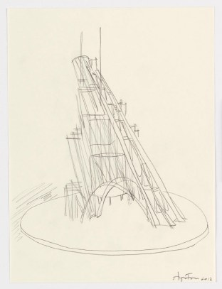 Study of Talk Tower for Ingrid Jonker, 2012. Graphite on paper, 28 x 21 cm