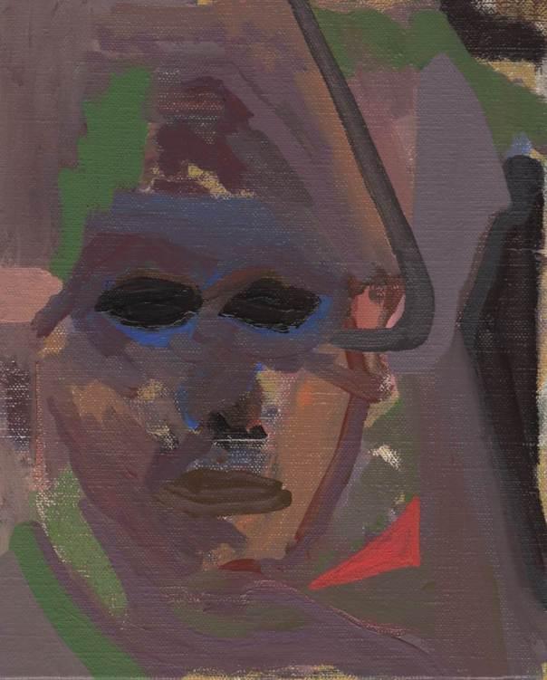 Stare, 2014, oil on linen, 27 x 22 cm