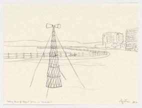 Study of Talk Tower for Ingrid Jonker, 2012. Graphite on paper, 21 x 28 cm