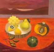Still Life with Pear, Melon and Grape, 2006
