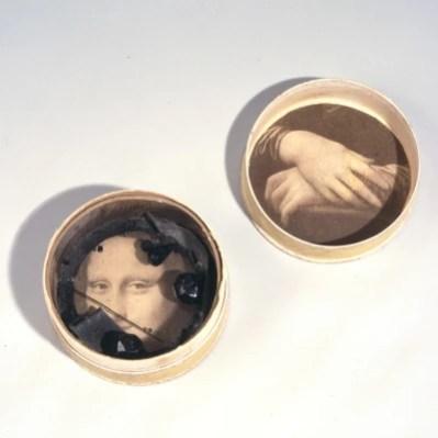 Untitled Object (Mona Lisa), c. 1940-42. Box construction. 3.5 x 7.6 cm. Photo: Brad Flowers.