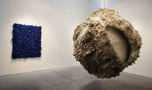 Aggregation 06 - JN028, 2006. 250 cm diameter. Mixed media with Korean mulberry paper