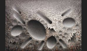 Aggregation 08 – N044, 2008. 200cm x 291 cm. Mixed media with Korean mulberry paper