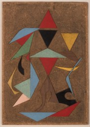 Alberto Menocal: Proyecto No. 2 (Project No. 2), 1958. Formica collage on masonite,15 3/4 x 10 1/4 inches (40 x 26 cm)