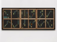 Loló Soldevilla: Sin Título (Untitled), 1958.Cardboard collage on paper on wood,19 6/8 x 50 x 1/4 inches (50 x 127 x 0.5 cm)