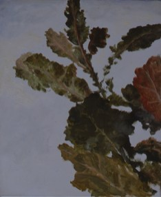 Autumn Leaves, 2002, oil on canvas, 46 x 38 cm.