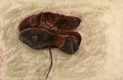Shoes, 1984. Pastel on paper, 31.8 x 47.6 cm