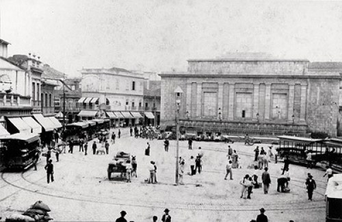The Largo da Carioca, c. 1890, photographed by Marc Ferrez