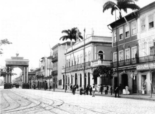 Itamarati Palace (centre) in 1894, photographed by Juan Gutierrez (Seat of the republican government from 1889 to 1898)