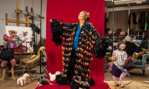 """Photograph: Antonio Olmos for the Observer, 15 November 2015: """"Paula Rego, 80: 'Painting is not a career. It's an inspiration'"""""""
