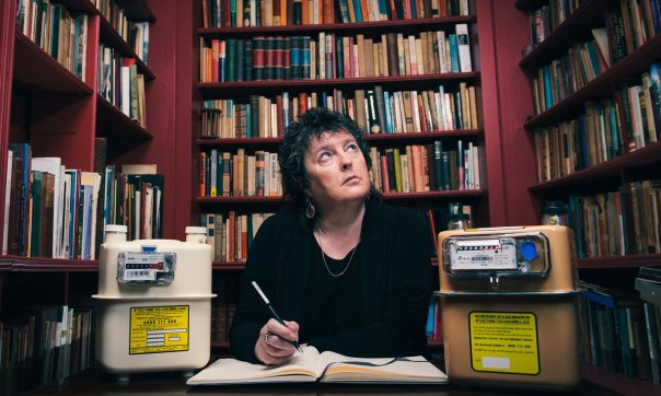 "Guardian, 18 April 2016; ""Carol Ann Duffy to mark phasing out of gas meters with new poem."" Photograph: Mikael Buck/Rex/Shutterstock."