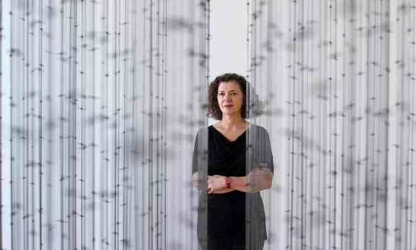 """At a major retrospective of her work at the Pompidou Centre in Paris, the artist Mona Hatoum looks back on her Middle Eastern roots, her time in the UK and her use of tension to create remarkable art."" / Photograph: Gian Ehrenzeller/EPA, for the Guardian, 28 August 2015"