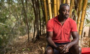 """The Observer, 16 April 2017: """"Chris Ofili: 'Being in Trinidad is still really exciting… I think it is working for me'."""" Photograph: Kibwe Braithwaite."""