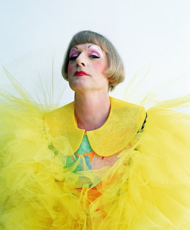 "Photograph: Tim Walker for The Guardian, 8 October 2014: ""Grayson Perry: 'Just because you don't have a dress on doesn't stop you being a tranny'"", by Simon Hattenstone"