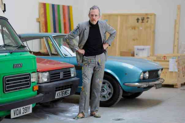 "Guardian, May 2016: ""In an exclusive preview of his new show, Turner winner Martin Creed gives us a guided tour round old cars, smashed chairs and plastic bags from under his fridge."" Photo: Sam Frost."