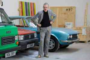 """Guardian, May 2016: """"In an exclusive preview of his new show, Turner winner Martin Creed gives us a guided tour round old cars, smashed chairs and plastic bags from under his fridge."""" Photo: Sam Frost."""