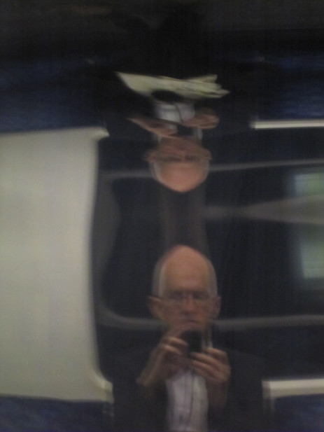 MY FIEND AND I, London tube, July 2015