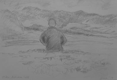 Mike, Askham Fell, pencil on paper, June 2014