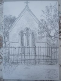 Packe Mausoleum, Branksome Park, Bournemouth, 2013, pencil on paper