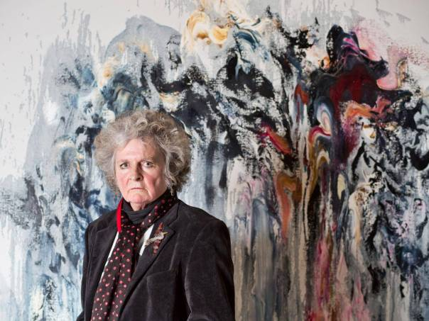 "Photo: Adrian Lourie for the Independent, 26 December 2015. ""Maggi Hambling interview: Celebrated artist on how she discovered her talent for painting – and the sting of criticism."""
