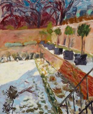 Garden in the Snow, Fenton House, Hampstead, Susan Wilson (b.1951), 1987